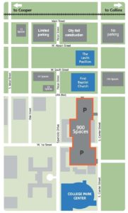 Levitt Parking Map